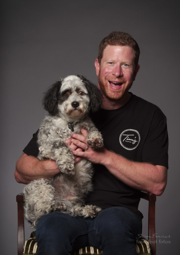 Tim Bone & his dog Harry